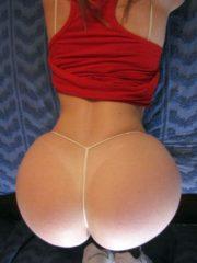 Tiny thong for big ass